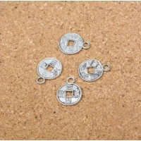 Китайская мини монетка диаметр 1 см