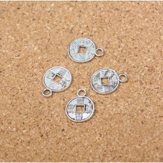 Китайская мини монетка-подвеска
