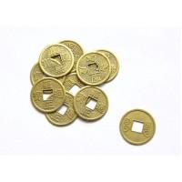 Китайские монеты 10 мм и 24 мм