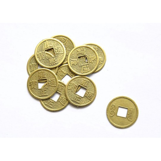 Китайские монетки фен шуй 24 мм с отверстием