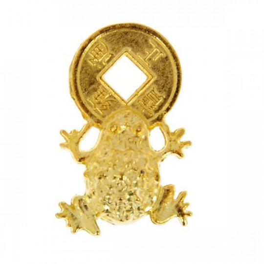 Кошельковая жаба с китайской монетой