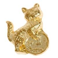 Кошельковый сувенир Кошка с монеткой