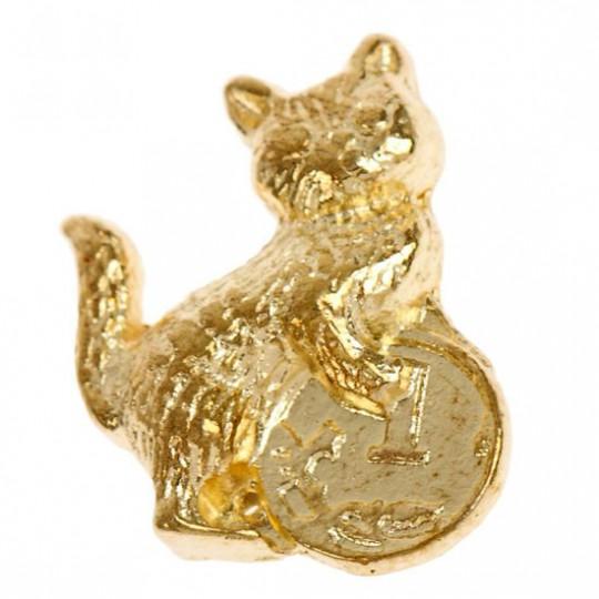 Денежная кошельковая кошка с монеткой