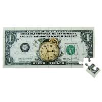Магнит пазл 1 доллар Время деньги