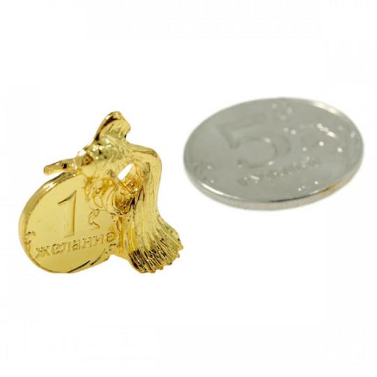 Талисман Золотая рыбка с монетой 1 желание