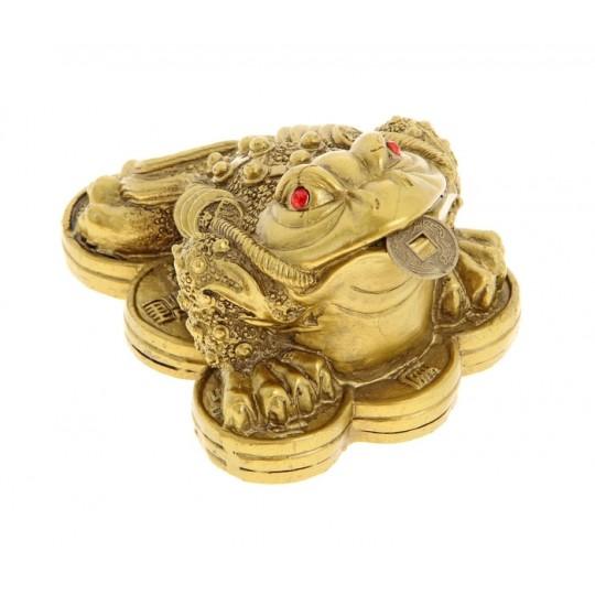 Жаба богатства на монетах